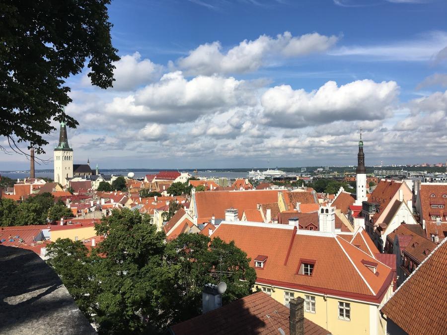 エストニア・タリンの街並み